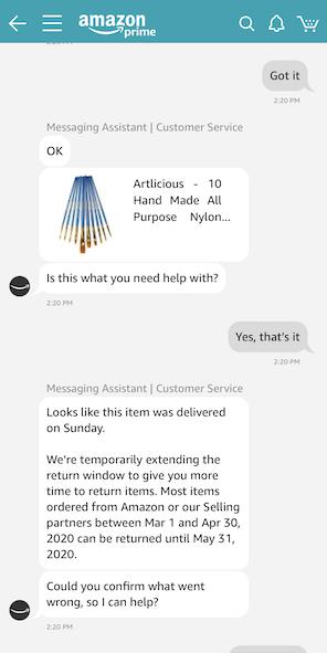 Amazonチャット画面2